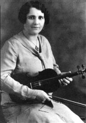 La Bolduc - Mary Bolduc with a fiddle
