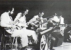 Les 4 Guitaristes de l'Apocalypso-Bar - Left to right: Jean-Pierre Bouchard, Roger Boudreault, André Duchesne, René Lussier