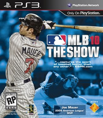 MLB 10: The Show - Official cover art of MLB 10: The Show (PlayStation 3 version)