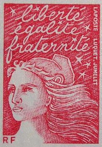 Marianne du 14 Juillet series - Marianne du 14 Juillet stamp, mention RF