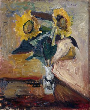 Painterliness - Henri Matisse, Vase of Sunflowers, 1898–1899, State Hermitage Museum Saint Petersburg, Russia.