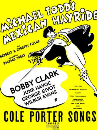 Mexican Hayride (musical) - Sheet music cover (cropped)