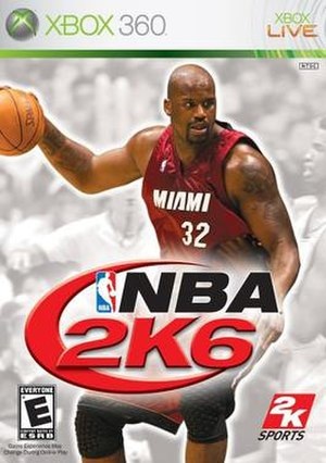 NBA 2K6 - Xbox 360 cover art featuring Shaquille O'Neal