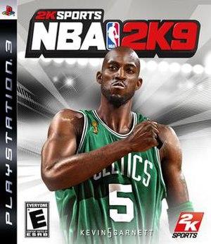 NBA 2K9 - PlayStation 3 cover art featuring Kevin Garnett