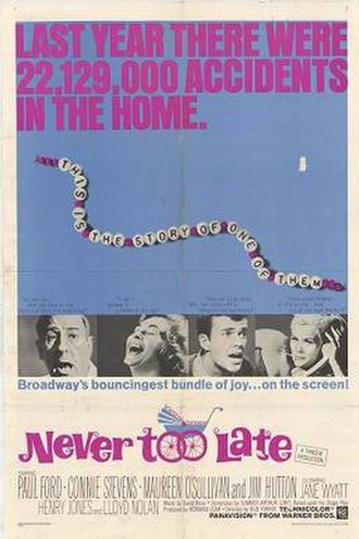 Never Too Late (1965 film) - Image: Never to Late 1965