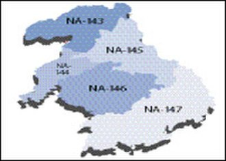 Okara District - Map of the district's constituent units (national assembly)