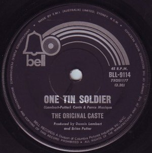 One Tin Soldier - Image: One Tin Soldier Original Caste single cover