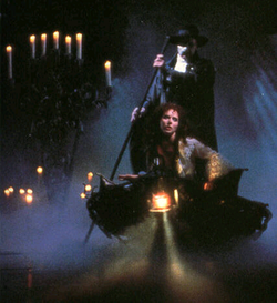 Michael Crawford and Sarah Brightman performing the title song.
