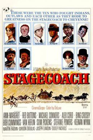 Stagecoach (1966 film) - Theatrical poster design by Norman Rockwell