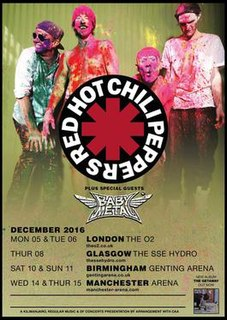 The Getaway World Tour 2016–17 concert tour by Red Hot Chili Peppers