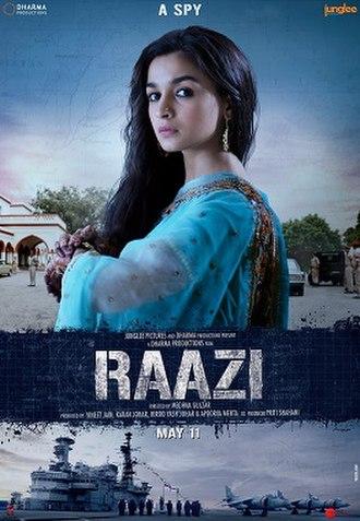 Raazi - Theatrical release poster