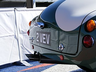 Aston Martin DB4 GT Zagato - Image: Rear view of Aston martin DB4GT Zagato (2VEV) at silverstone classic 2009
