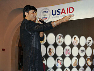 Sajjad Ali - Sajjad Ali performs at the launch of a US sponsored music video to promote health awareness about mothers and newborns.