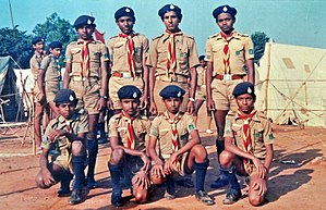 Saraju Mohanty - Mohanty in a Scout Camp in 1988 with high school classmates.