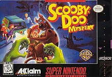 SNES box art featuring Shaggy and Scooby.