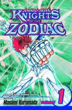 Saint Seiya - The cover of Saint Seiya: Knights of the Zodiac volume 1, as published by Viz Media.