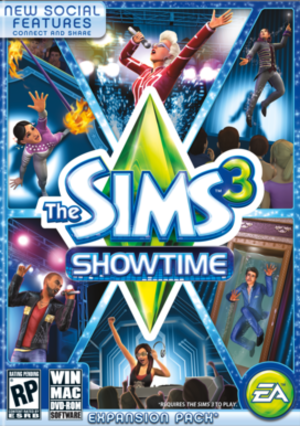 The Sims 3: Showtime - Image: Sims 3 Showtime Box