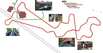 The Flume (Alton Towers) - route of The Flume