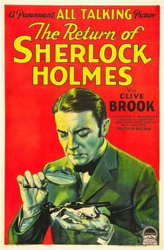 The Return of Sherlock Holmes (1929 film) - Theatrical release poster