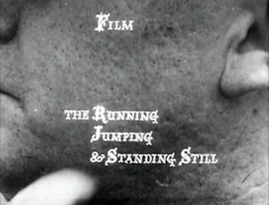 The Running Jumping & Standing Still Film - Title card