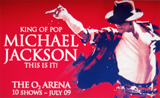 This Is It (concerts) - Image: This Is It Michael Jackson banner