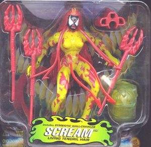 Scream (comics) - The Scream action figure released by Toy Biz.