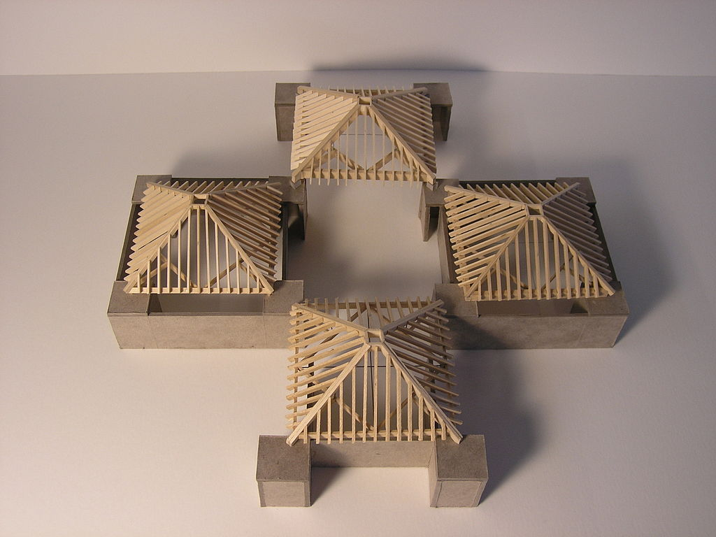 File trenton bath house model materials and details roof structure wikipedia Home design and structure
