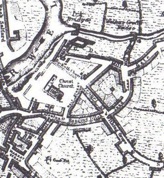 Cathedral Gardens - Area around the cathedral in 1650
