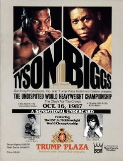 Mike Tyson vs. Tyrell Biggs Boxing competition
