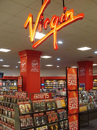 Record sales - A Virgin Megastore in Brisbane, Australia in 2007