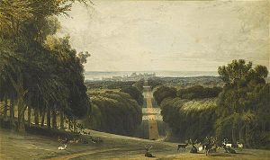 William Daniell - Long Walk, Windsor Park (1827)
