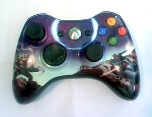 "Xbox 360 controller - Limited Edition Halo 3 ""Spartan"" controller"