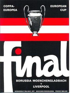 1977 European Cup Final - Image: 1977 European Cup final logo