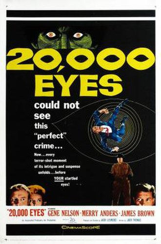 20,000 Eyes - Theatrical release poster
