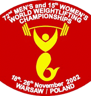 2002 World Weightlifting Championships - Image: 2002 World Weightlifting Championships logo