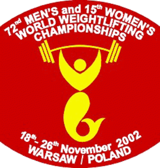2002 World Weightlifting Championships - Image: 2002 World Weightlifting Championships logo