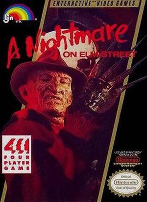 A Nightmare on Elm Street (video game) - Cover art