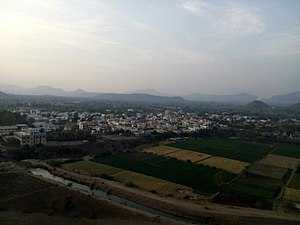 Abhona - Abhona view form southeast(Malhari Temple)
