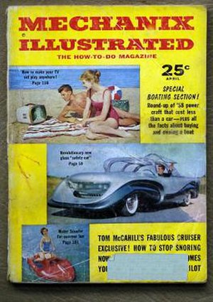 Mechanix Illustrated - MI cover from April 1957