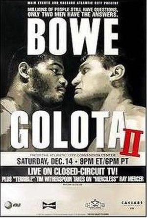 Riddick Bowe vs. Andrew Golota II - Image: Bowe vs Golota 2