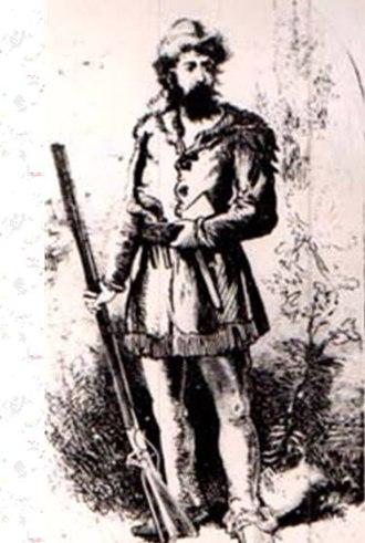 Samuel Brady - Early illustration of Captain Samuel Brady, circa 18th-19th centuries