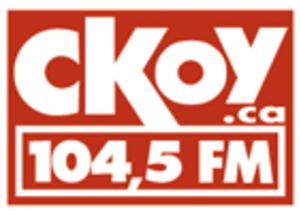 CJTS-FM - CKOY's first logo, 2008-2009.
