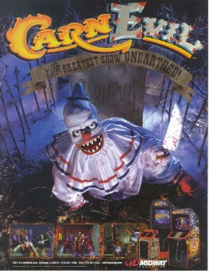 CarnEvil - North American arcade flyer