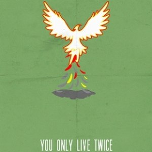 "Chikara You Only Live Twice - Promotional poster featuring a phoenix rising from the ""ashes of Chikara"""