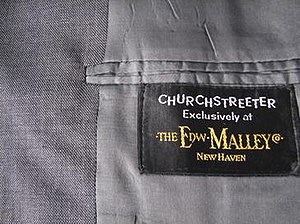 The Edw. Malley Co. - Churchstreeter clothing label