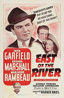 <i>East of the River</i> 1940 film by Alfred E. Green
