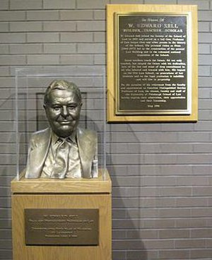 University of Pittsburgh School of Law - Bronze bust and plaque honoring former Dean Edward Sell's 50th year of teaching at Pitt