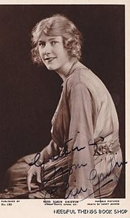 Elsie Griffin English operatic and operetta soprano