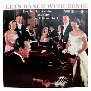 A souvenir recording released by Verve Records in the summer of 1959 featuring longtime San Francisco bandleader Ernie Heckscher playing for The Cotillion at The Fairmont. The cover photo models are the previous winter's debutantes and their escorts
