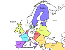 Swedish Intervention In The Thirty Years War Wikipedia - Map germany thirty years war